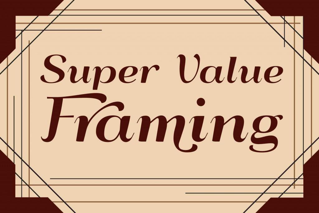 Super Value Framing at the Elsinore Framing & Fine Art Gallery